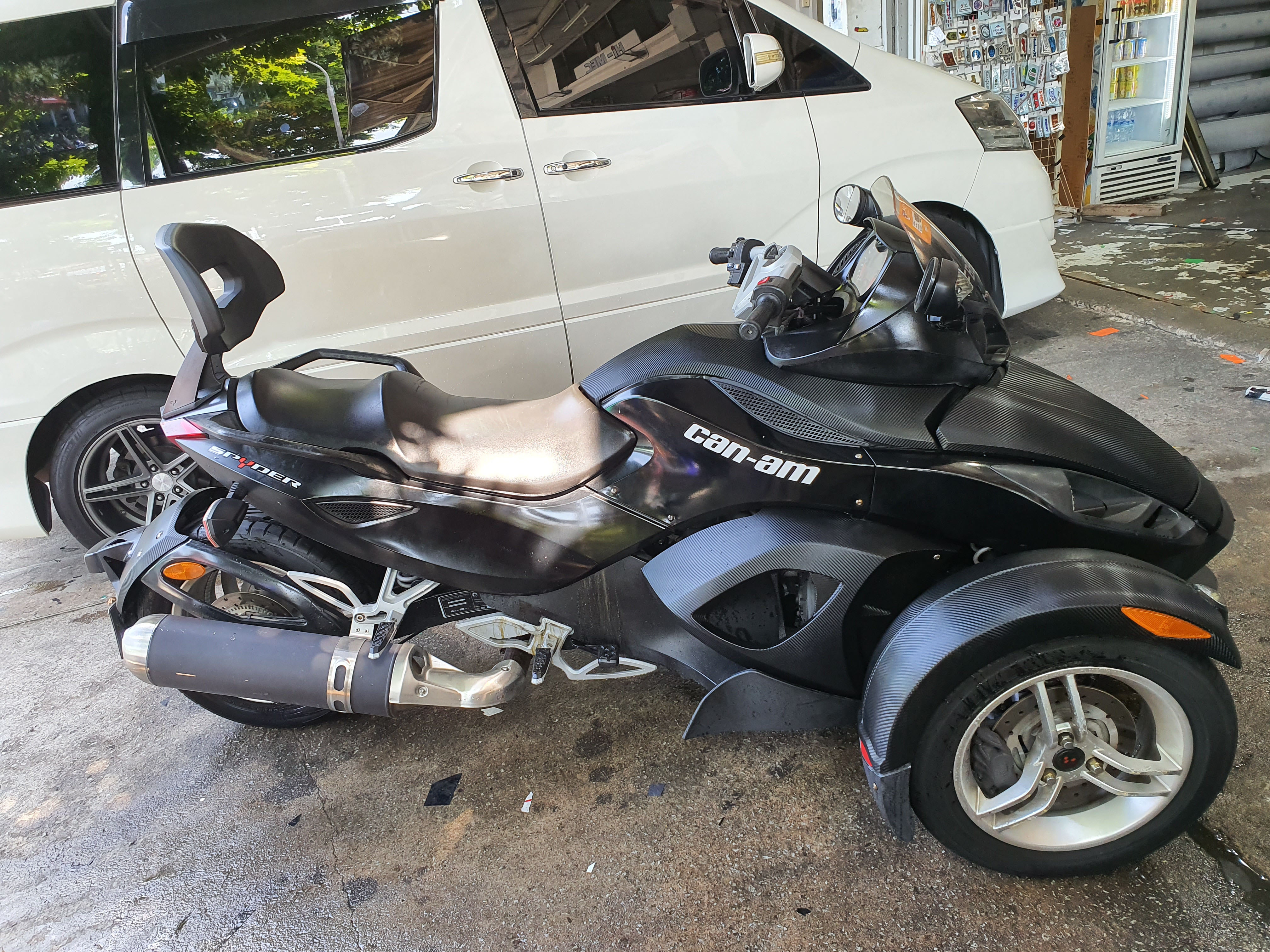 Can-Am Spyder Carbon Decal Motorcycle
