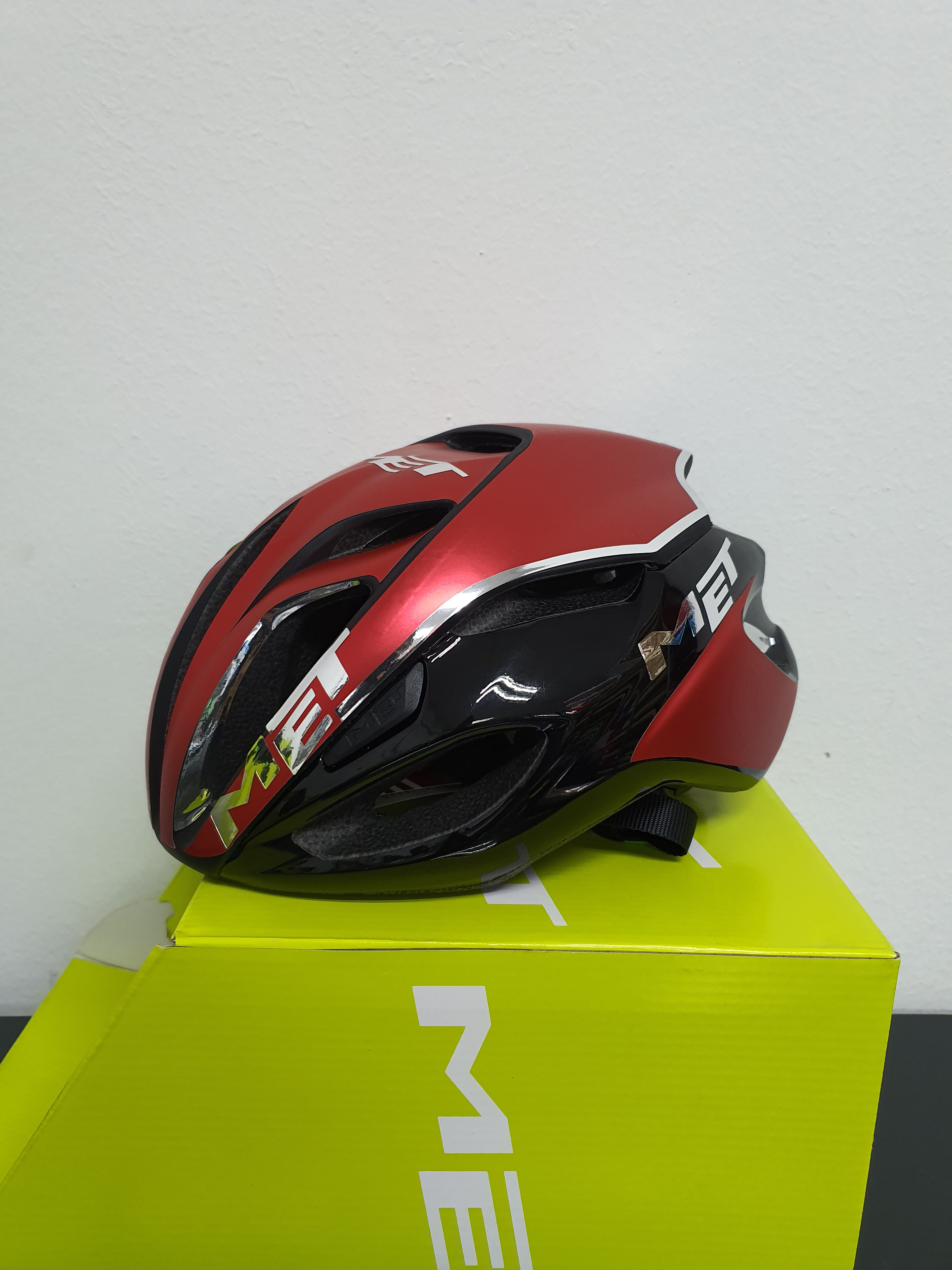 Custom Decal for MET Helmets in Red and Black