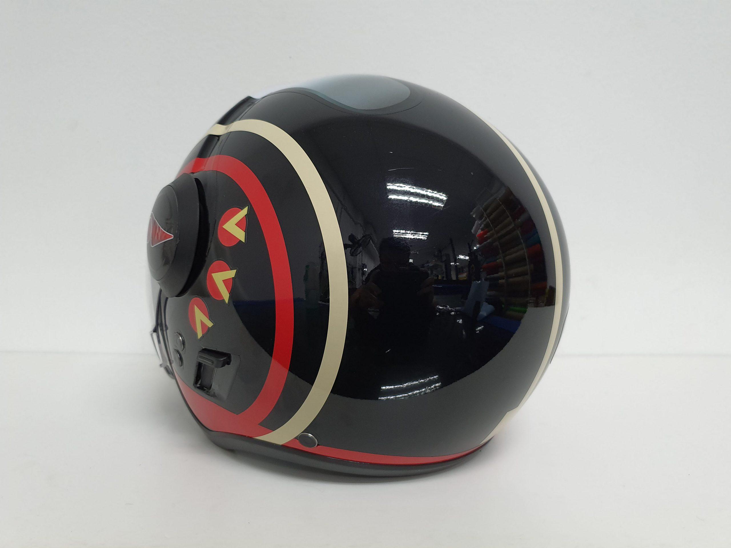 Back View of Starwars X-Wing Fighter Helmet Design