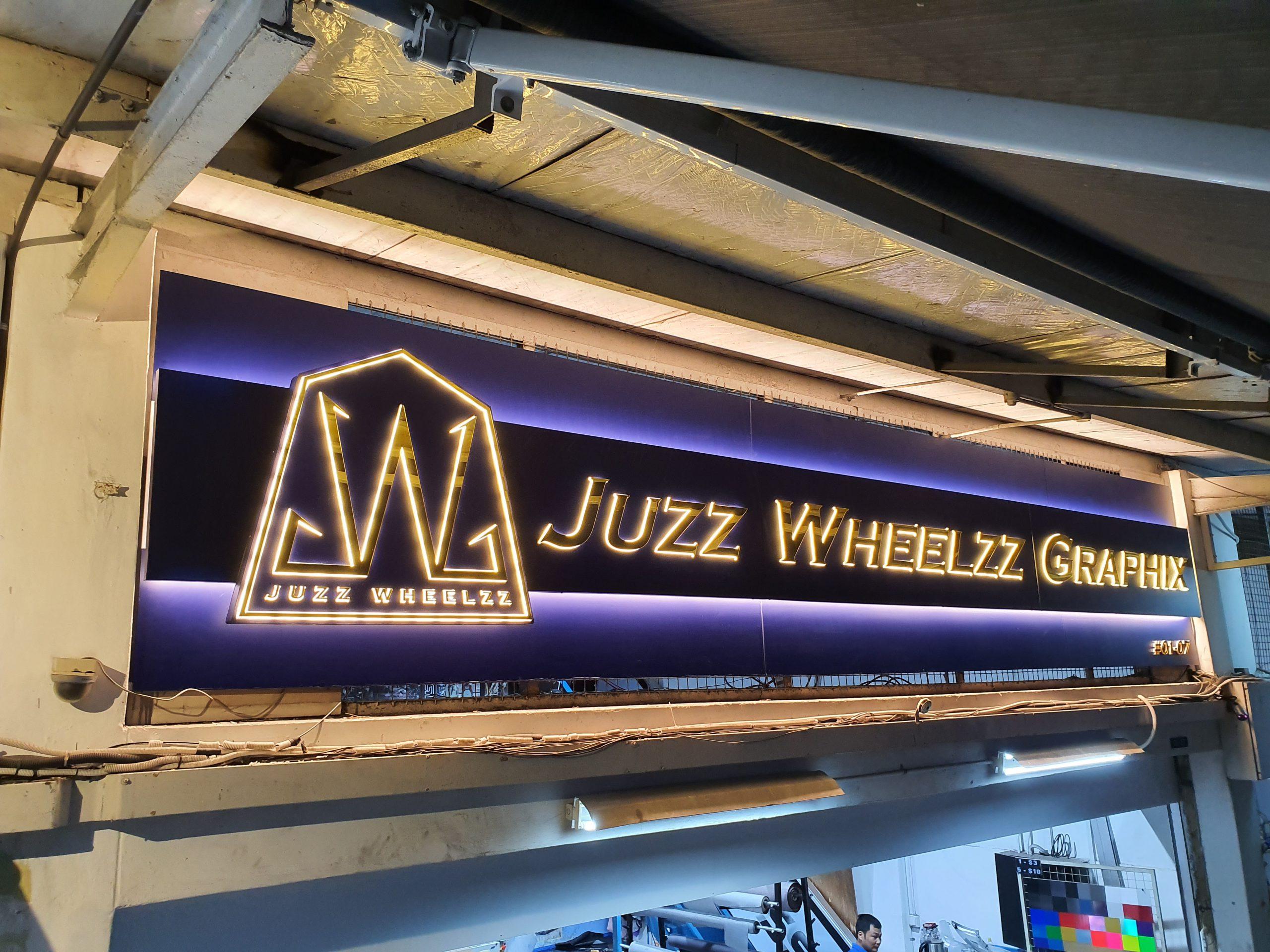 Juzz Wheelzz GraphixRevamped Logo Signboard