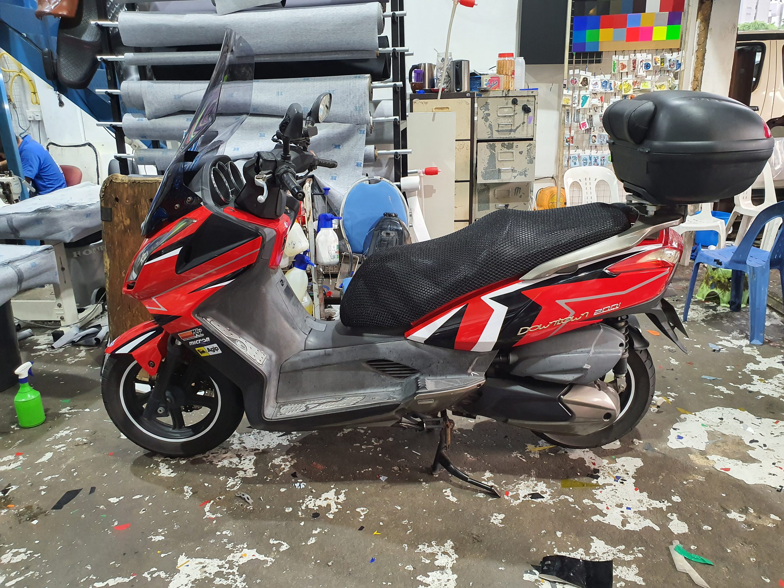 Kymco Decal Vinyl Wrap for Motorbike