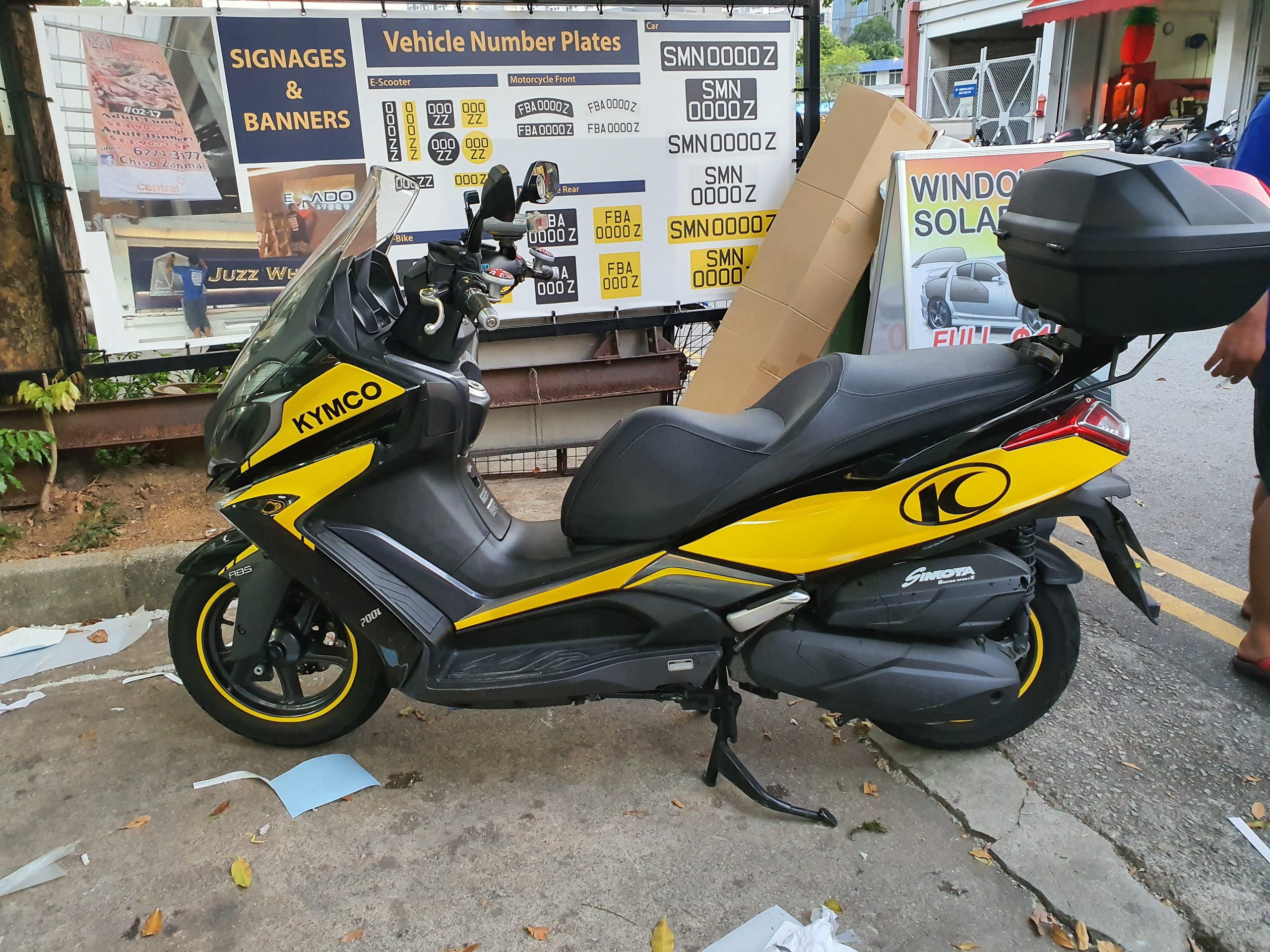 Kymco Decal Vinyl Wrap for Motorbike in yellow
