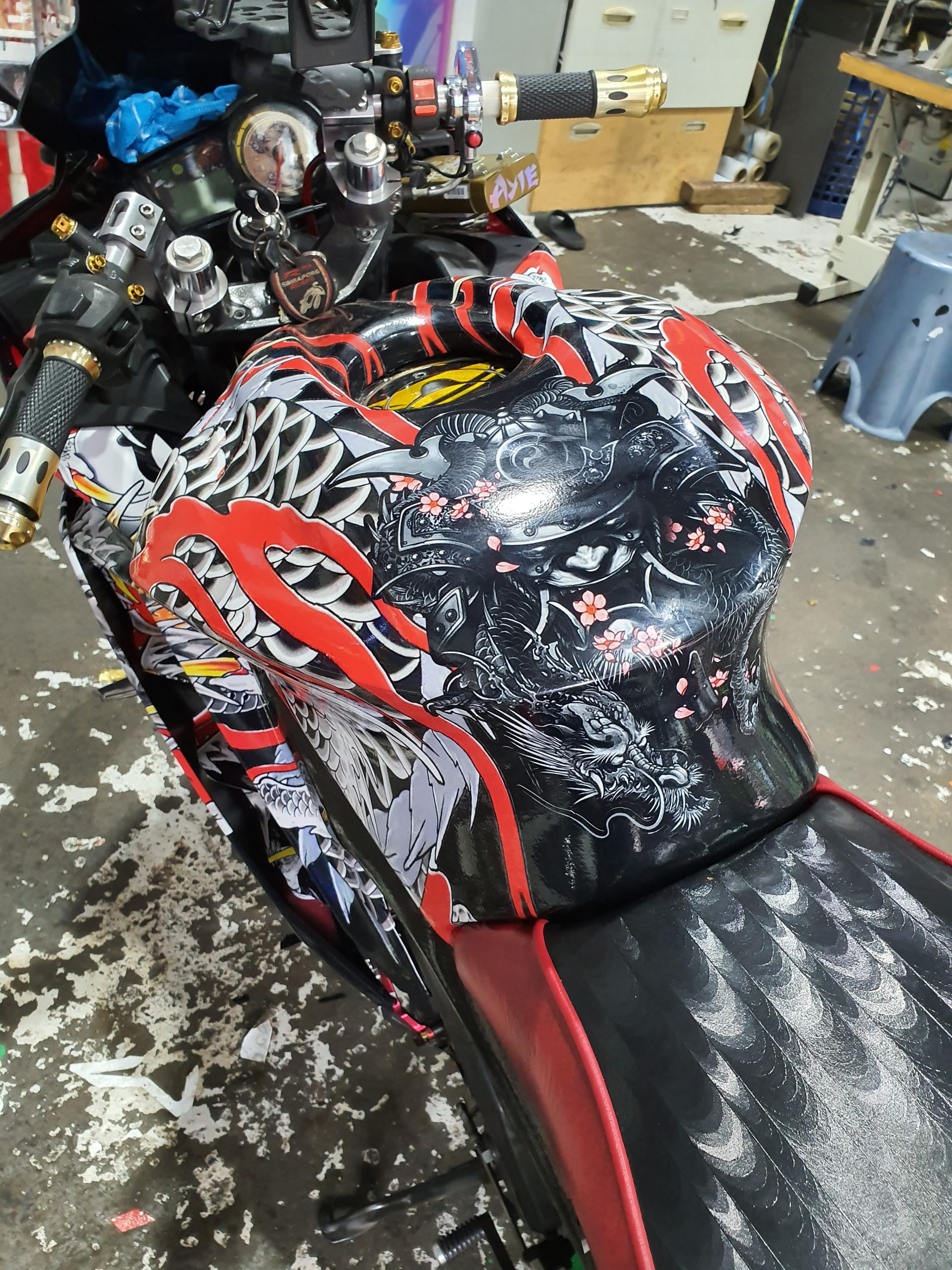 Yamaha R15 v2 Full Wrap Oriental by Juzz Wheelzz