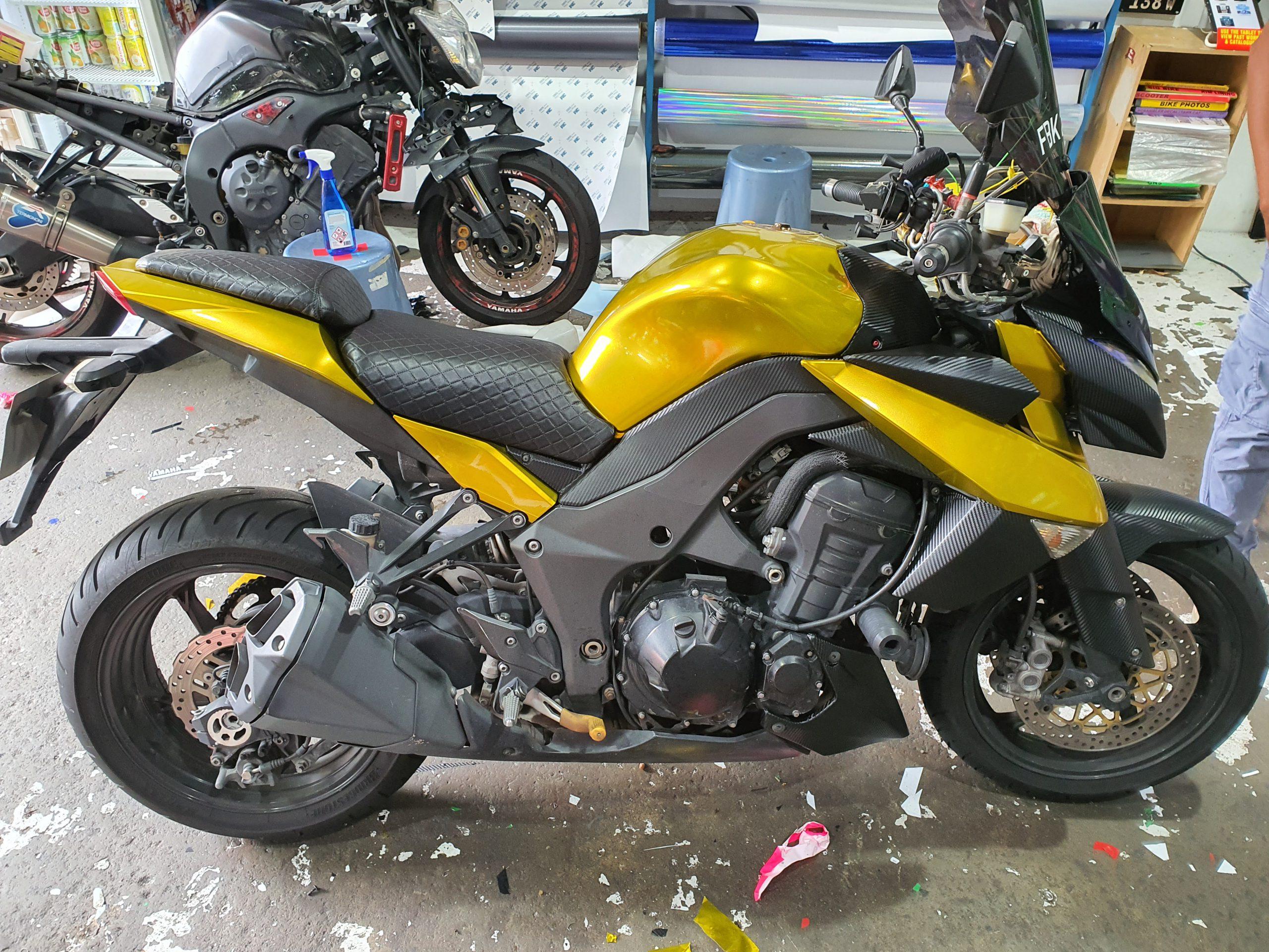 Kawasaki Z1000SX Gold Chrome