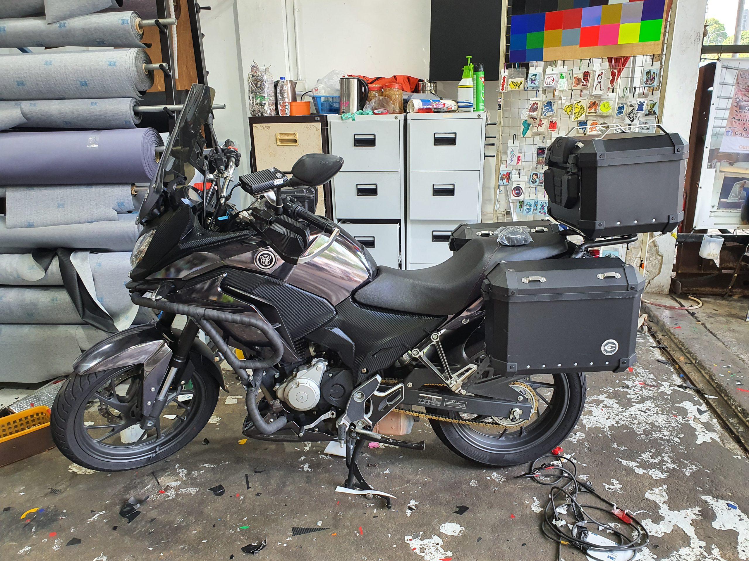 Yamaha CB190X Tourism Chrome Black