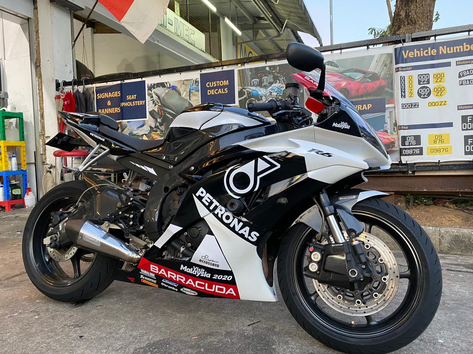 Yamaha R6 Monochrome Petronas